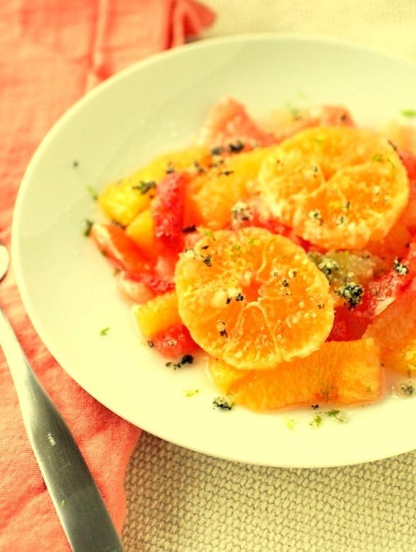 Salad, Orange, Fruit