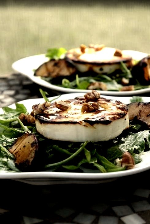 Grilled Manouri Cheese and Arugula Salad Dinners & Dreams