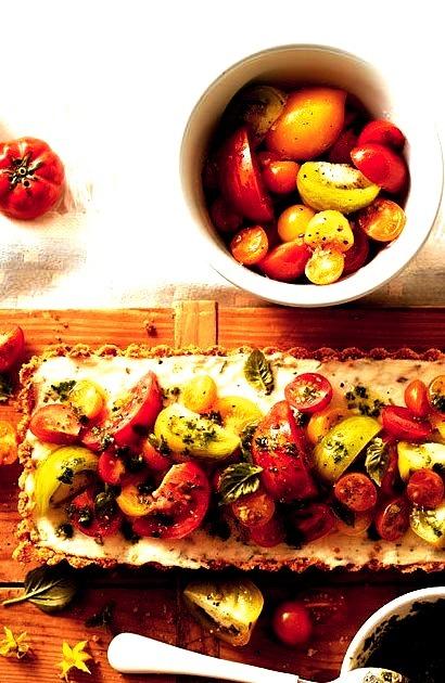 Tomato-Goat Cheese Tart