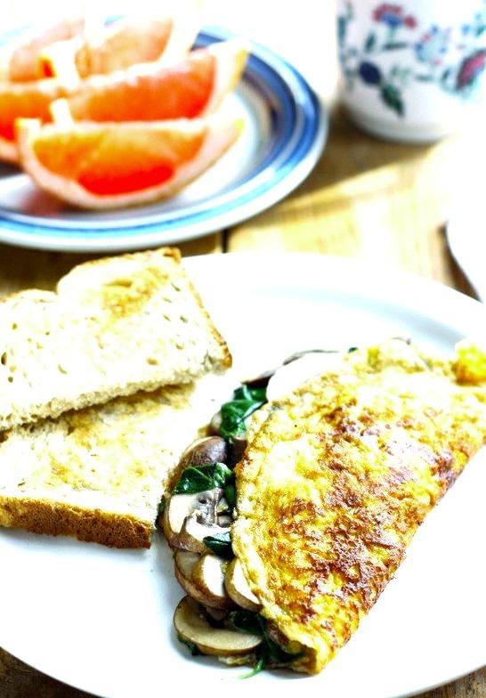 Spinach & Mushroom Omelette