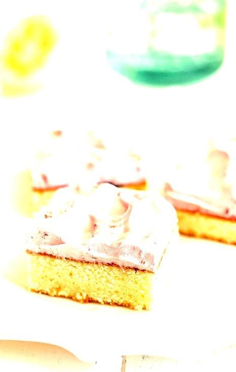 Recipe: Lemon Cake Squares with Cherry Meringue Icing