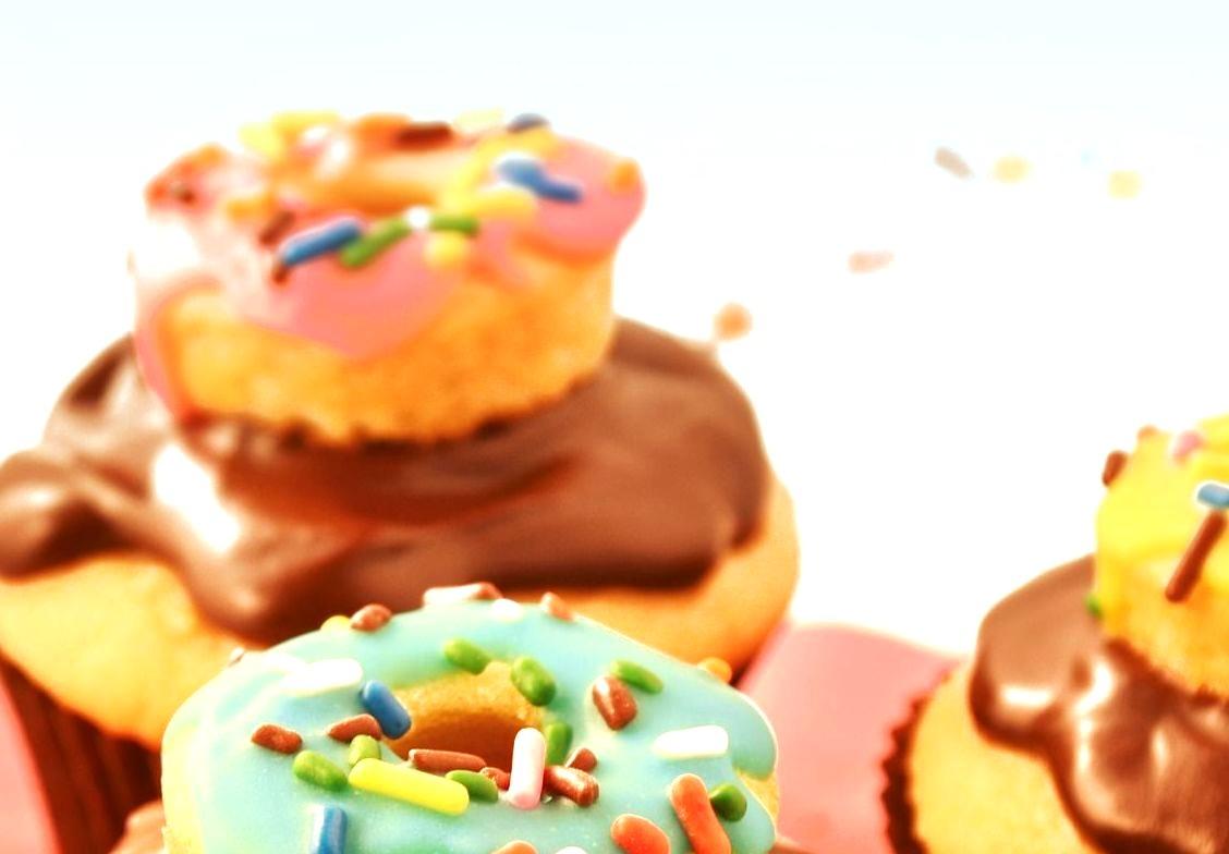 Cream Filled Donut Cupcakes