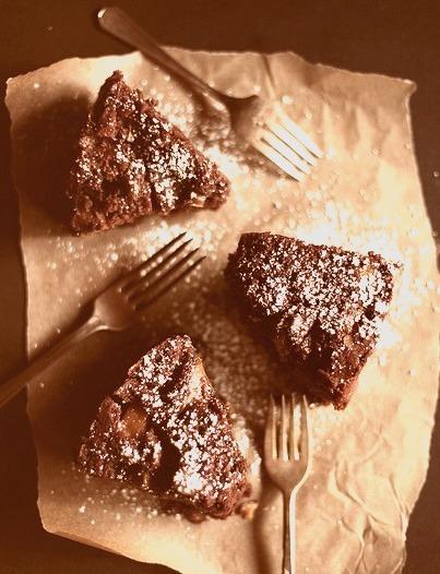 Pear & Almond Chocolate Cake with Cider Glaze (via honey & jam recipes photos