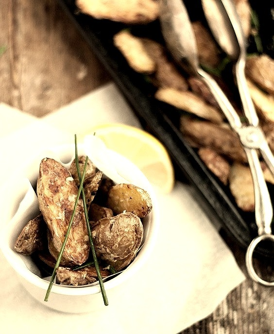Roasted Parmesan & Chive Fingerling Potatoes Seasons & Suppers