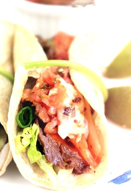 Korean Beef and Kimchi Tacos