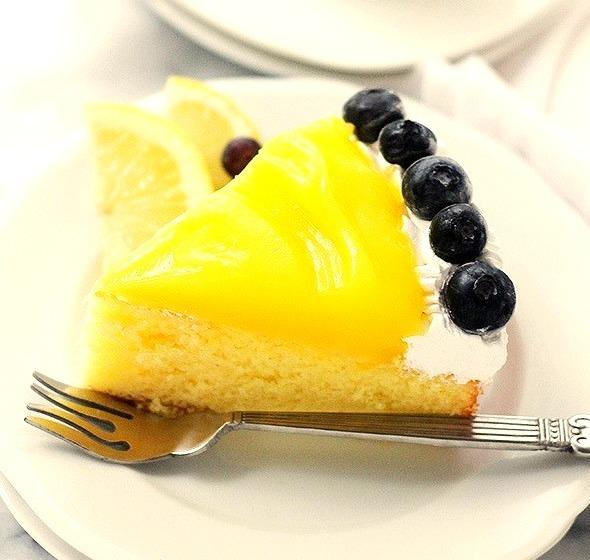Lemon Curd-Topped Lemon Cake