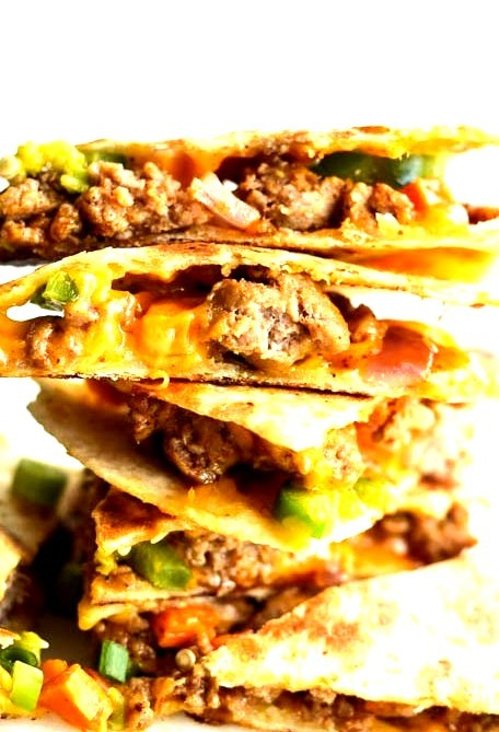 Sausage Sweet Potato Quesadillas