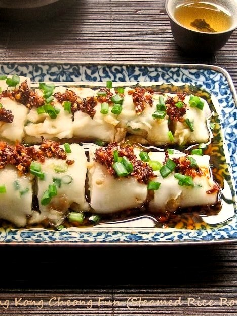 Hong Kong Cheong Fun (Steamed Rice Rolls) Smoky Wok