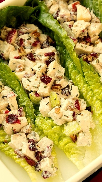Apple Pecan Rosemary Greek Yogurt Chicken Salad