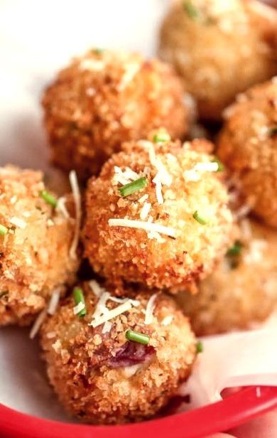 Loaded Mashed Potato BallsSource