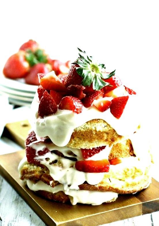Sponge Cake with Creamy Strawberry Hungry Couple NYC