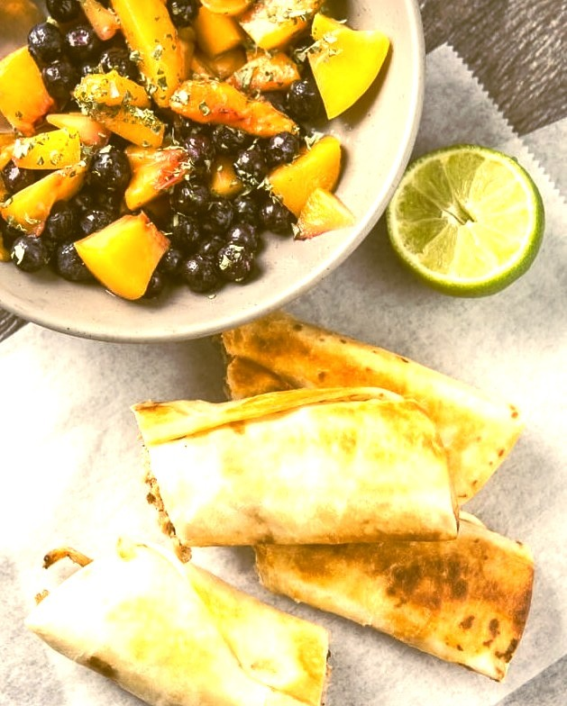 (via Slow Cooker Crispy Pork Flautas with Blueberry Peach Salsa)